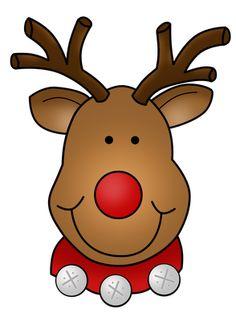 Printable Christmas Reindeer Clipart.