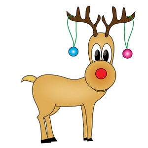 reindeer christmas clipart free #2