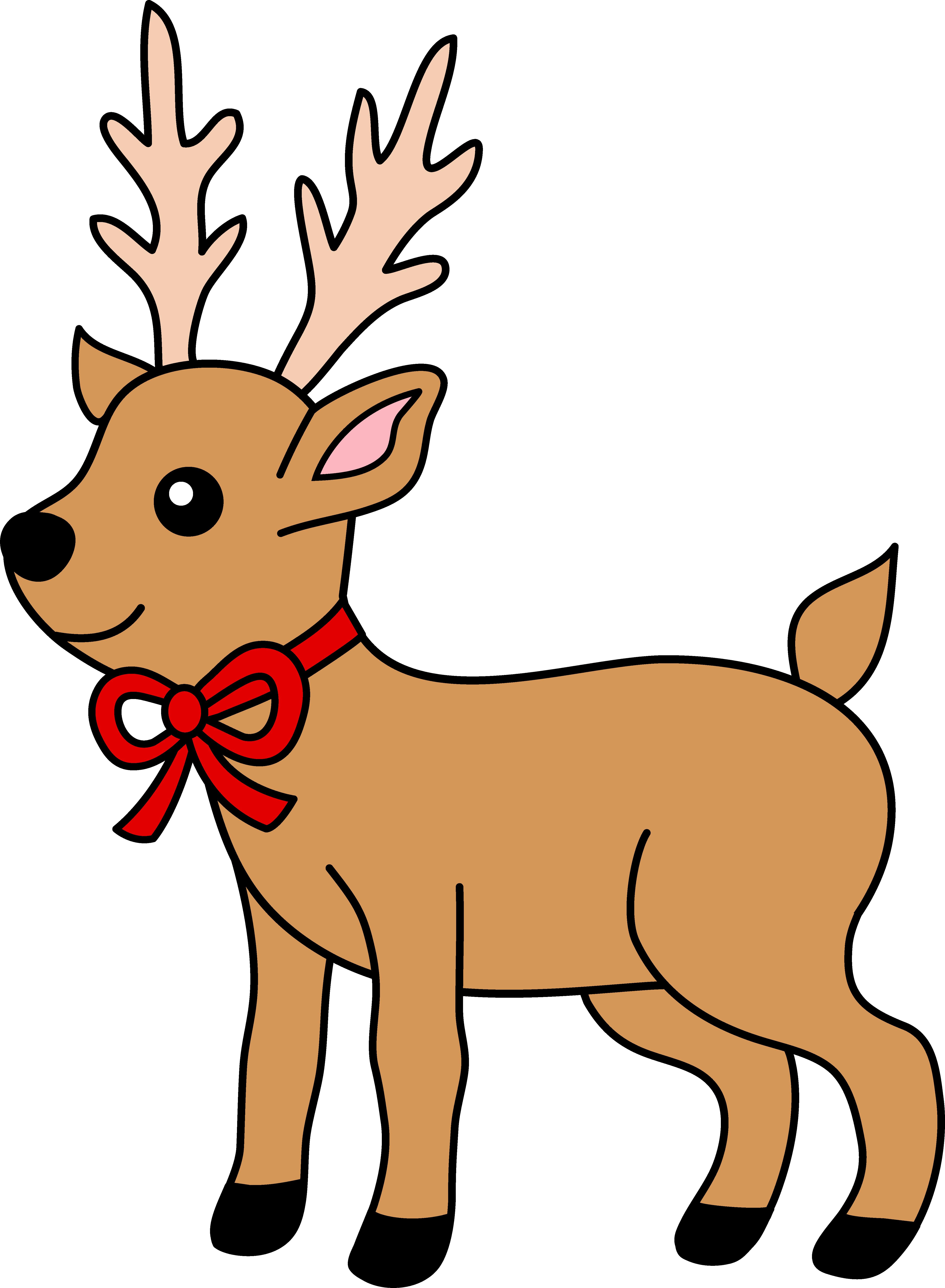 reindeer christmas clipart #19