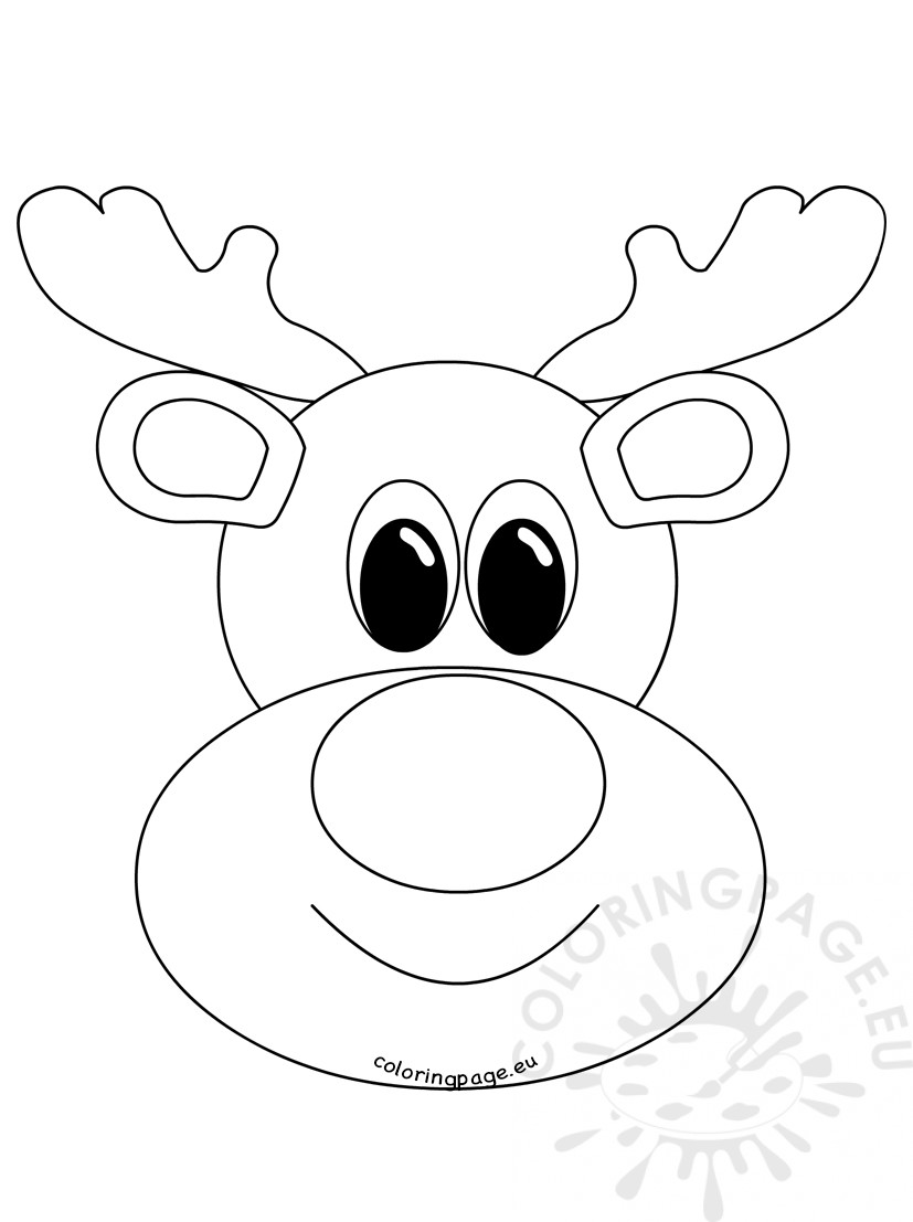 Reindeer Face Clipart Black And White.