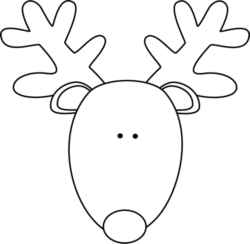 Free Reindeer Face Clipart Black And White, Download Free.