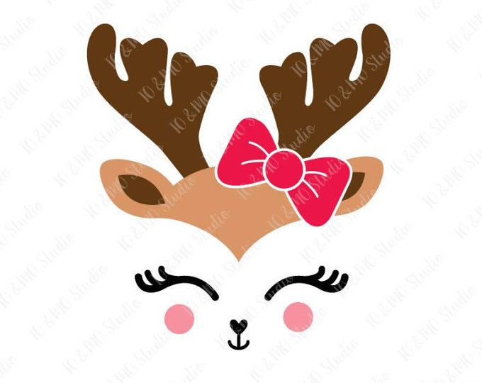 Reindeer SVG, Reindeer Head Svg, Reindeer Clip Art, Reindeer.