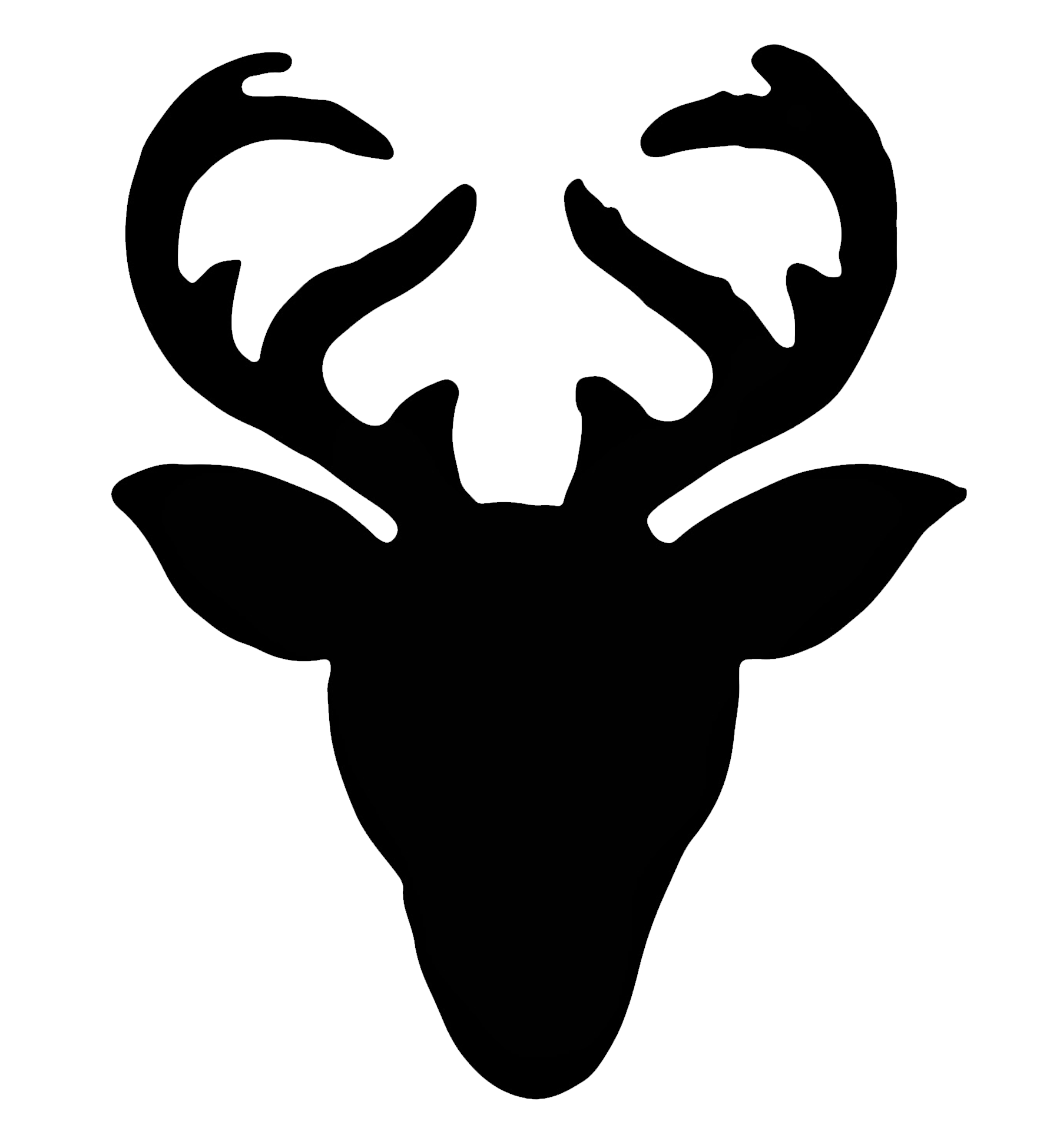 Free Reindeer Face Silhouette, Download Free Clip Art, Free.
