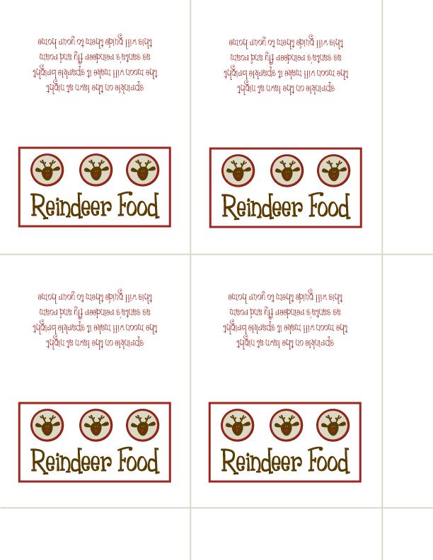 Reindeer Food.