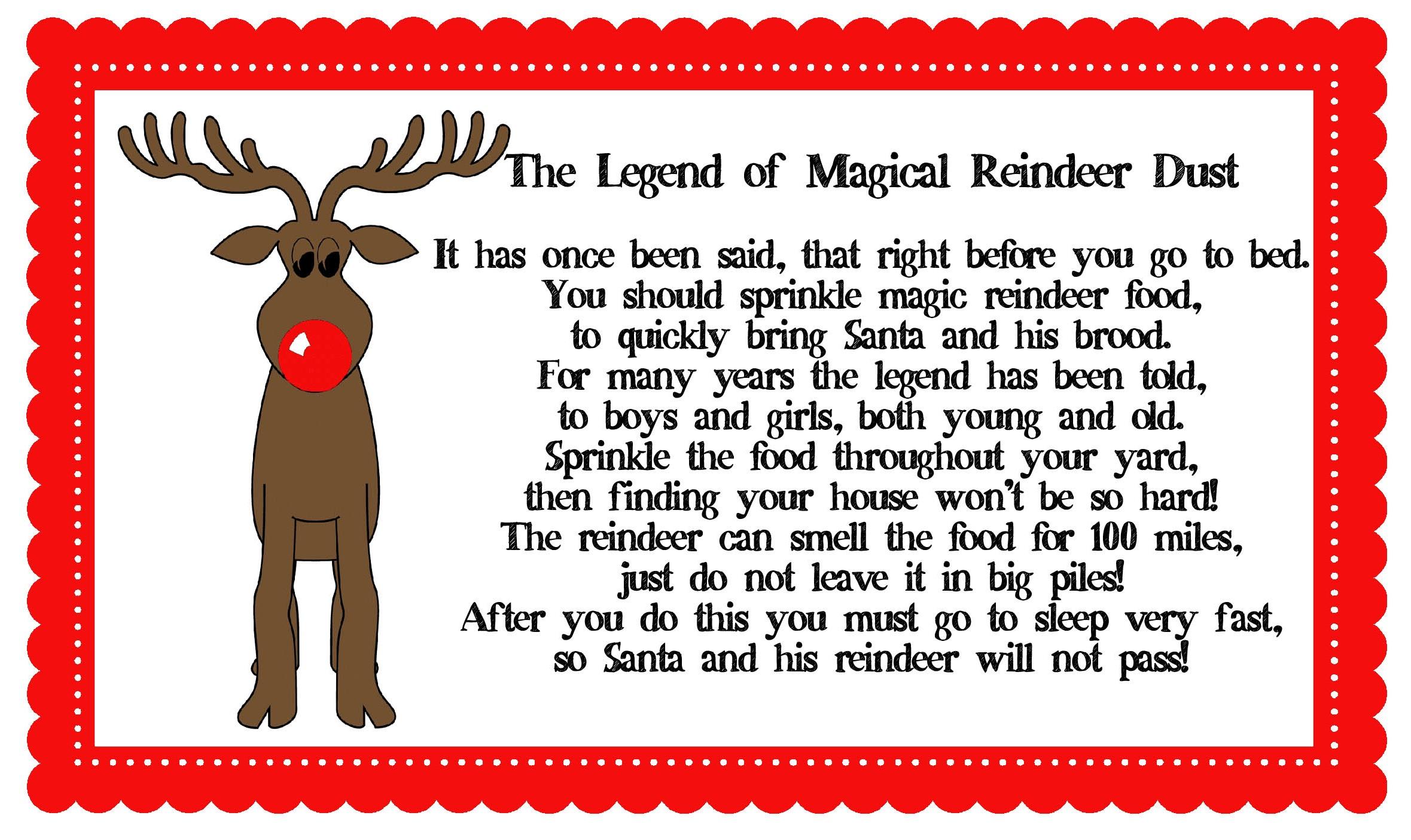 Magic reindeer food clipart.