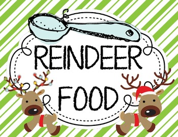 Reindeer Food {Letter From Santa} and {Bag Toppers}.