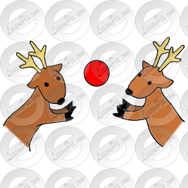 Reindeer Games Picture for Classroom / Therapy Use.