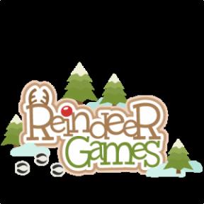 Reindeer Games Clipart.