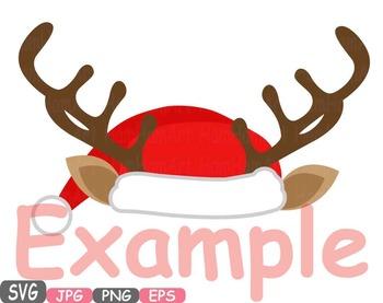 Christmas Hats Props Santa Hat deer hat clipart Santa Claus reindeer deer  482s.