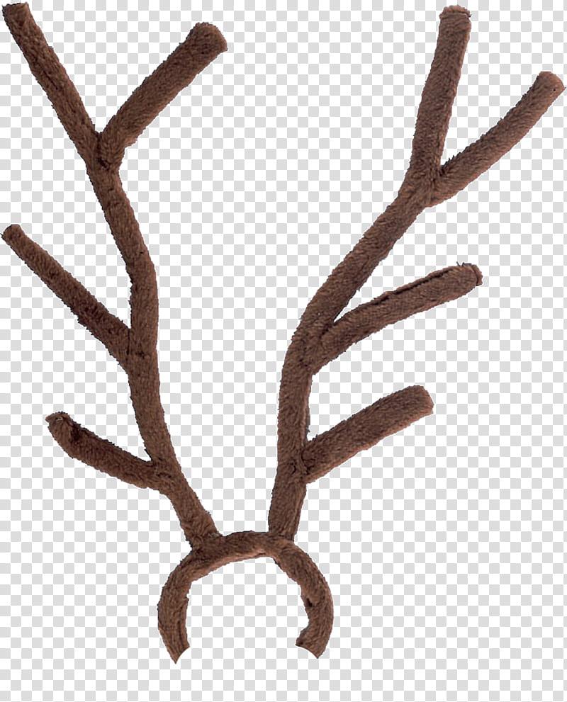Santa Hats and Reindeer Antlers s, brown transparent.