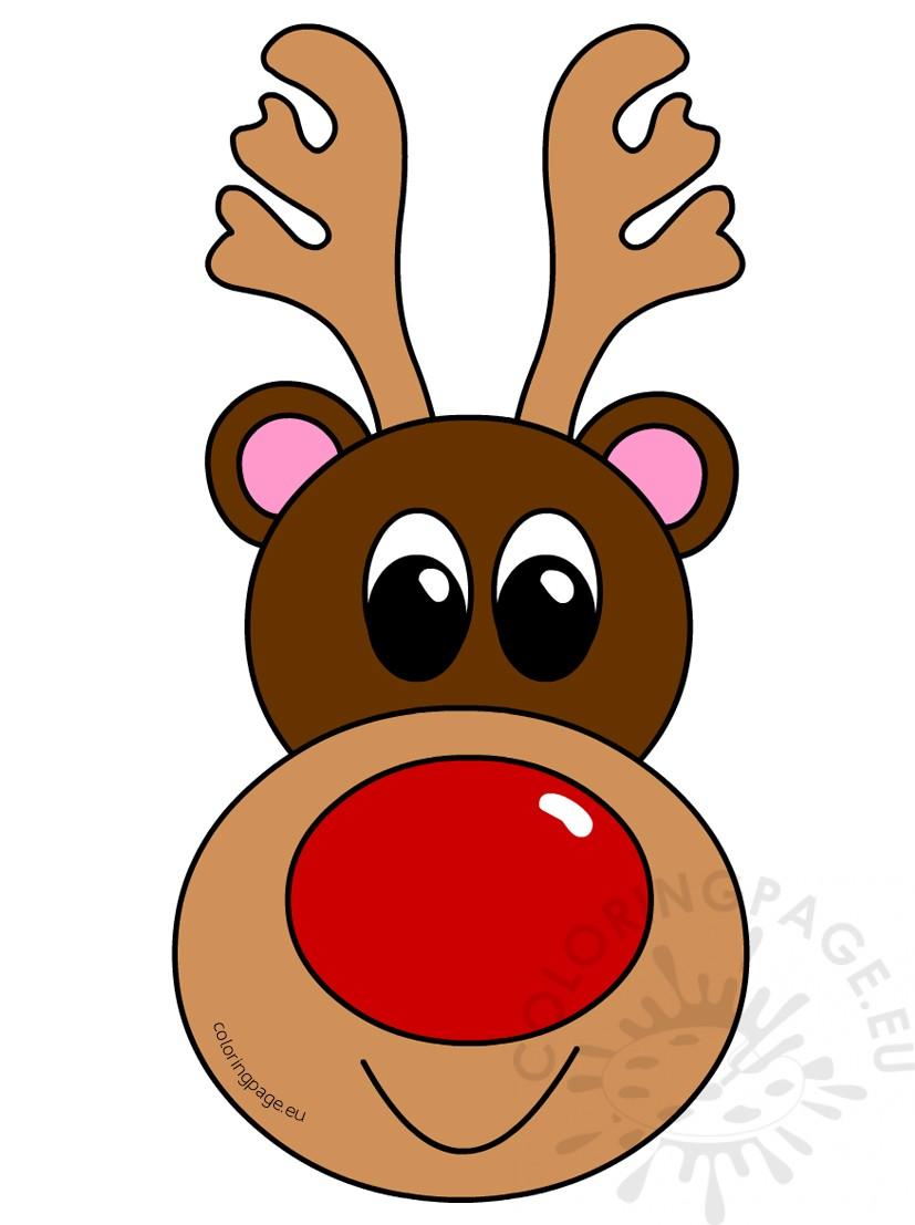 Christmas clipart reindeer head.
