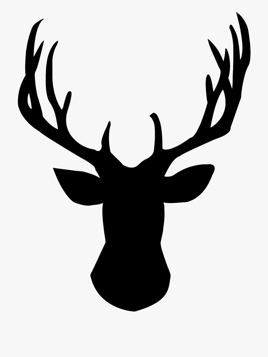 Free Stag Head Down Load Clipart.