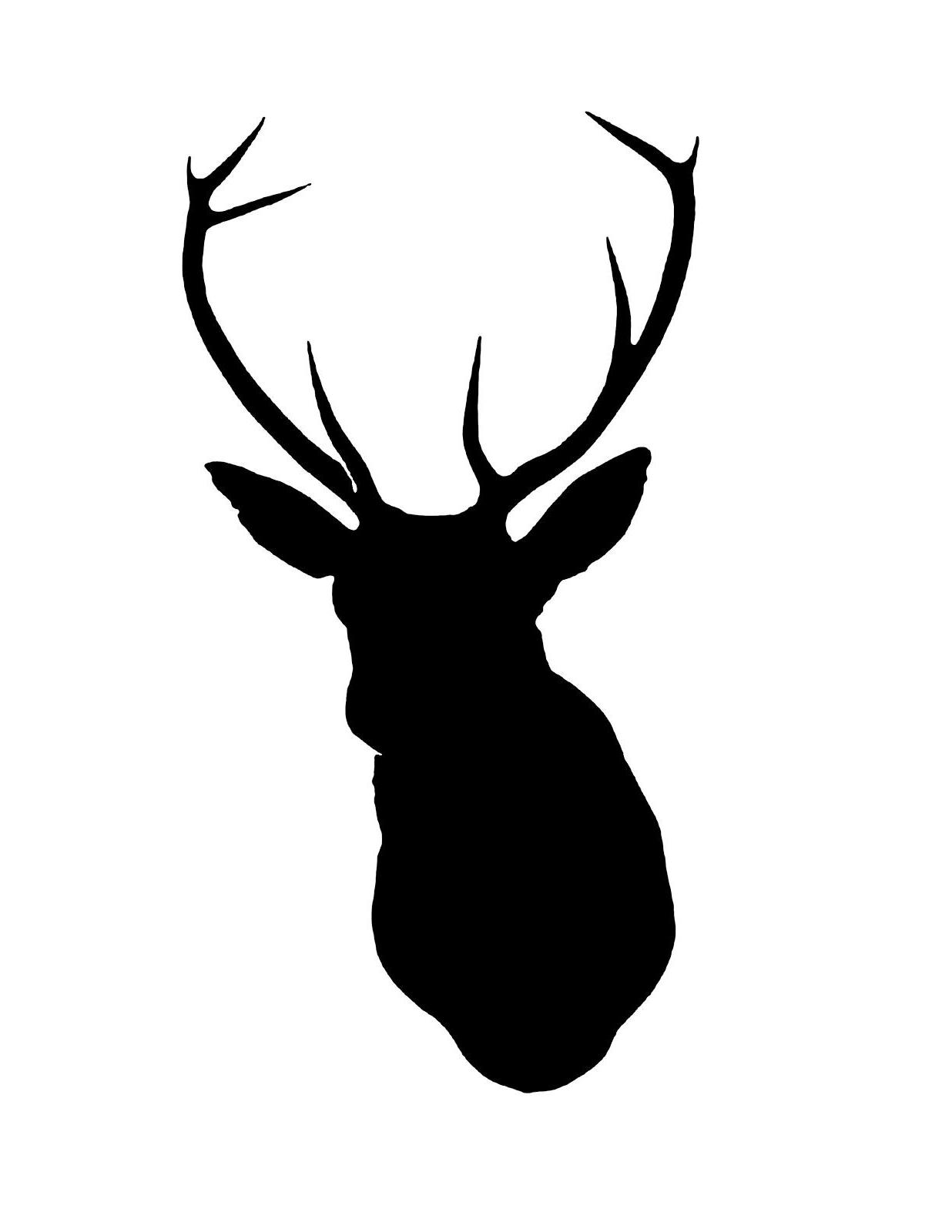 Best Deer Head Silhouette Stencil Vector File Free » Free.