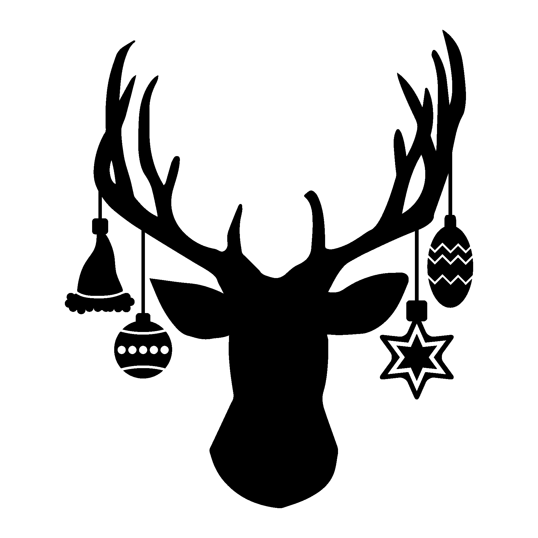 Deer head silhouette vector clipart images gallery for free.