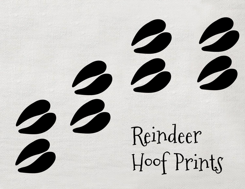 Image result for reindeer hoof prints stencil.