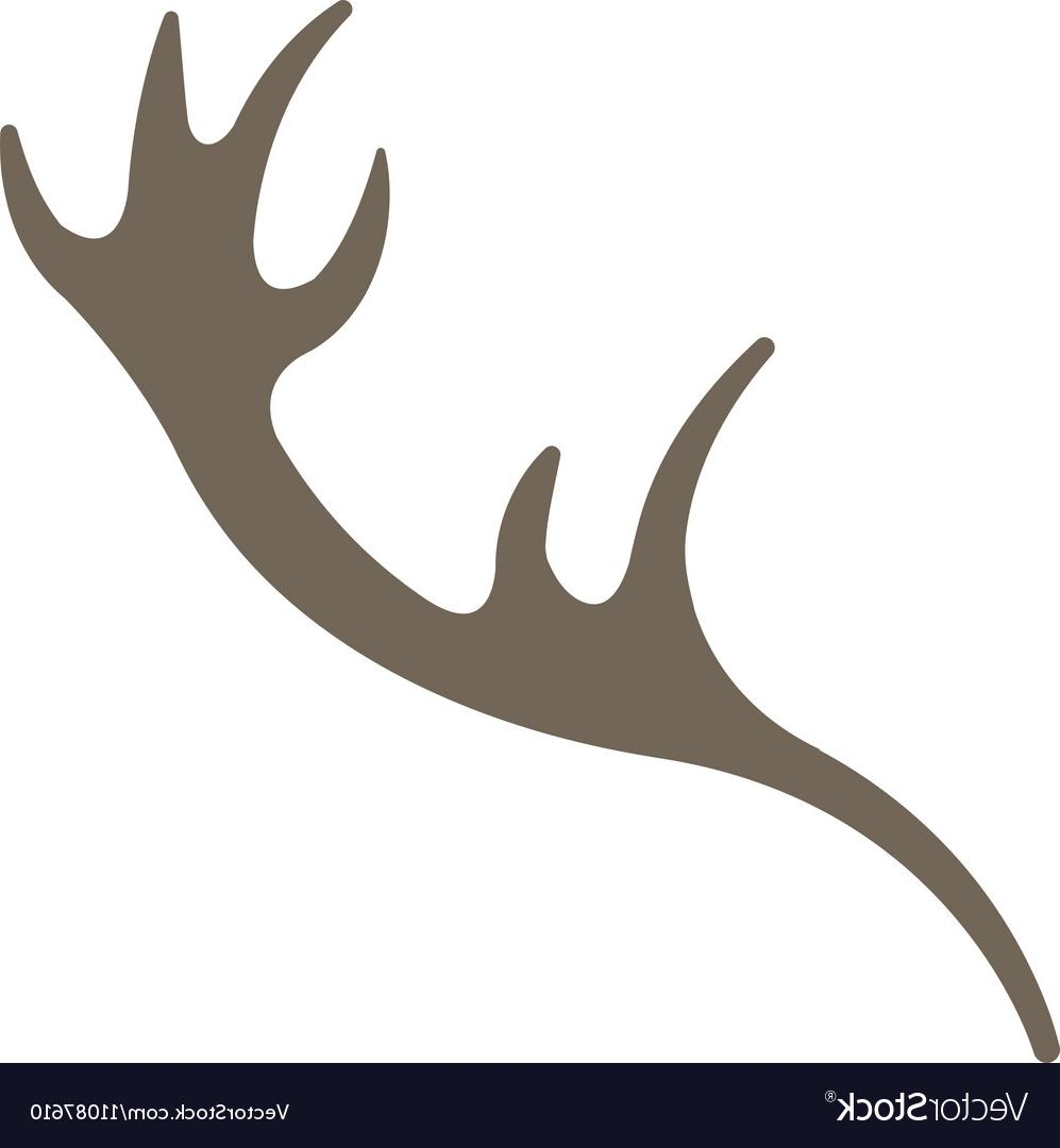 HD Reindeer Horn Vector Design » Free Vector Art, Images.