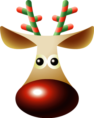 Reindeer Noses Cliparts.