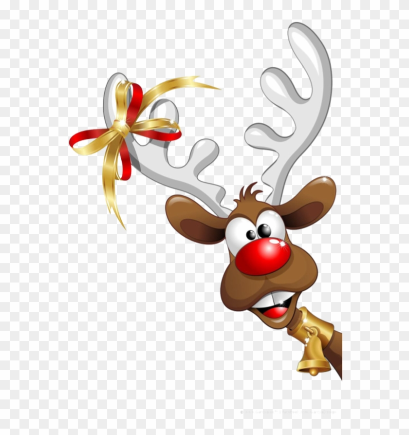 Deer Clipart Santa Claus Christmas Day Reindeer Funny.