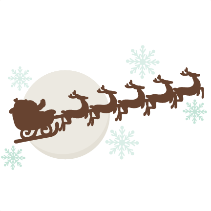 Reindeer Pulling Sleigh SVG cutting files free svg cuts.