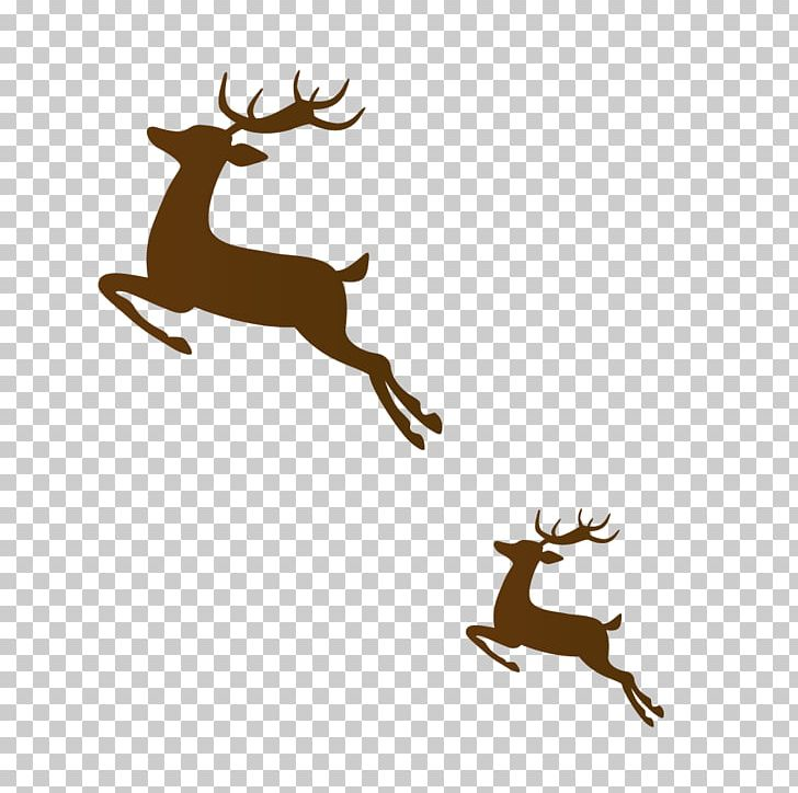 Reindeer Brown Run PNG, Clipart, Animals, Antler, Art.