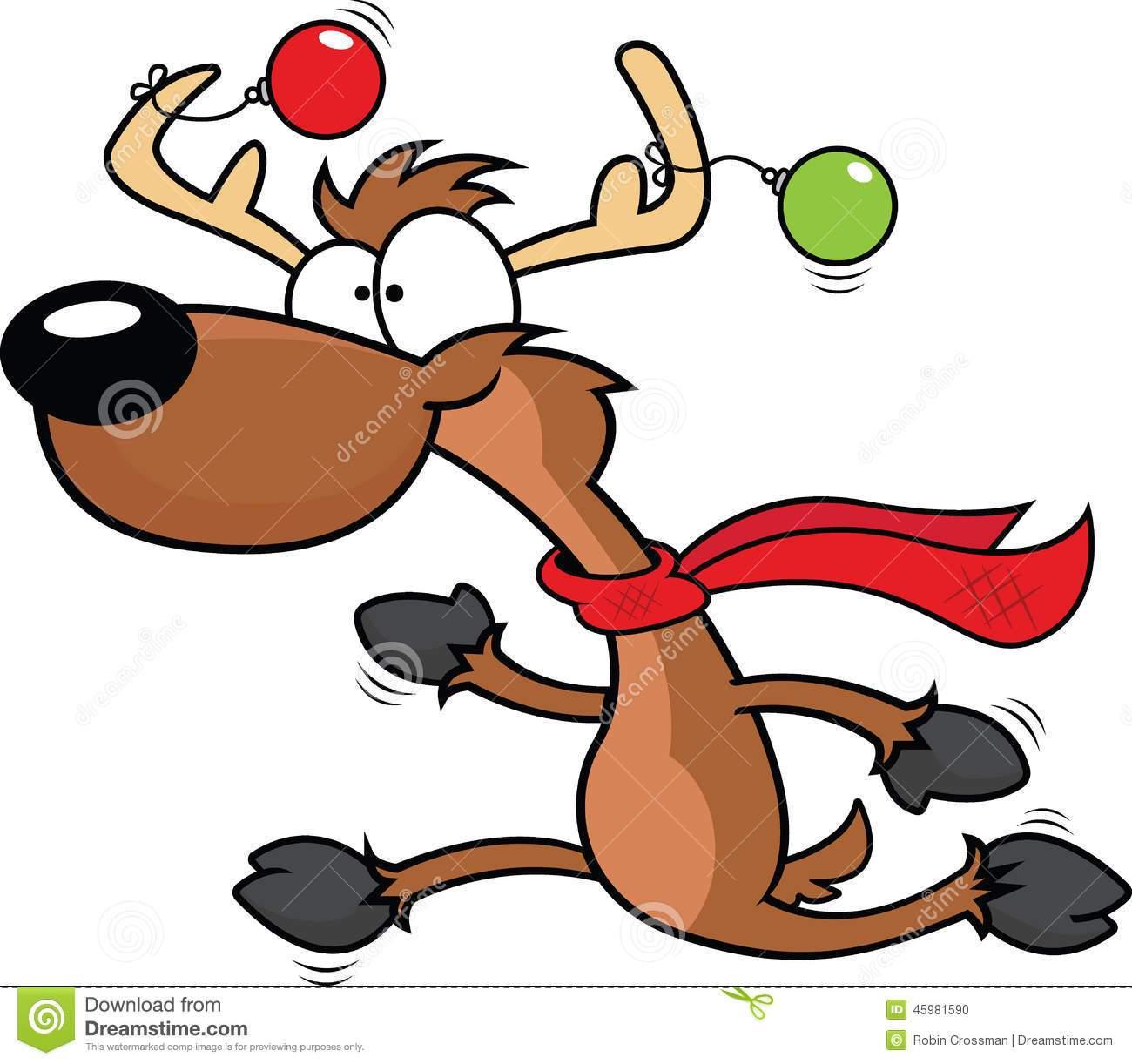 Running reindeer clipart » Clipart Portal.