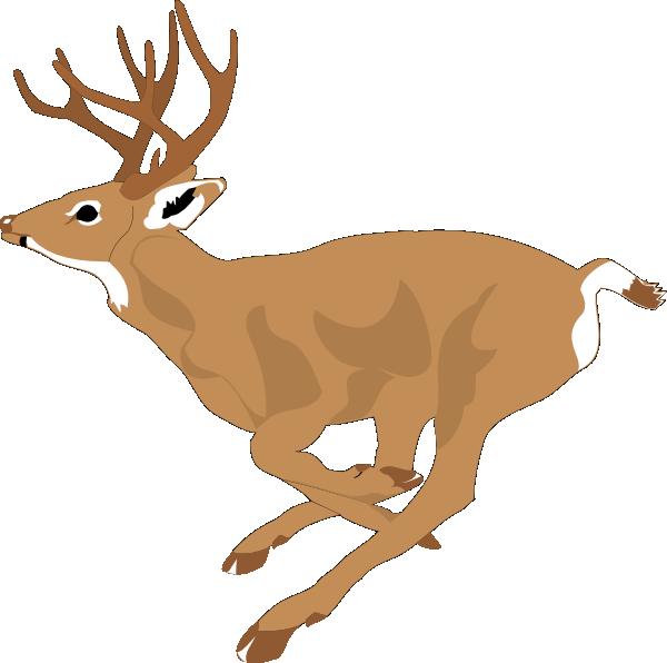 Deer Running Fast Clip Art at Clker.com.
