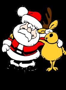 1022 free christmas clip art santa reindeer.