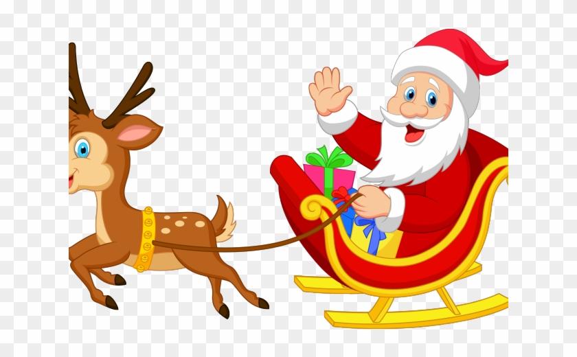 Santa Clipart Reindeer.