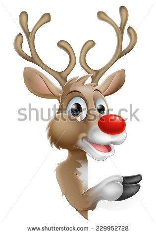 Cartoon Reindeer Stock Images, Royalty.