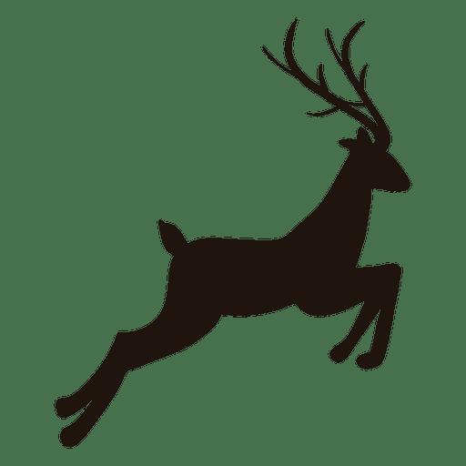 Reindeer silhouette jumping 24.