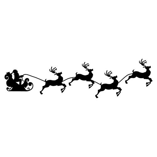 Reindeer Sleigh Clipart.