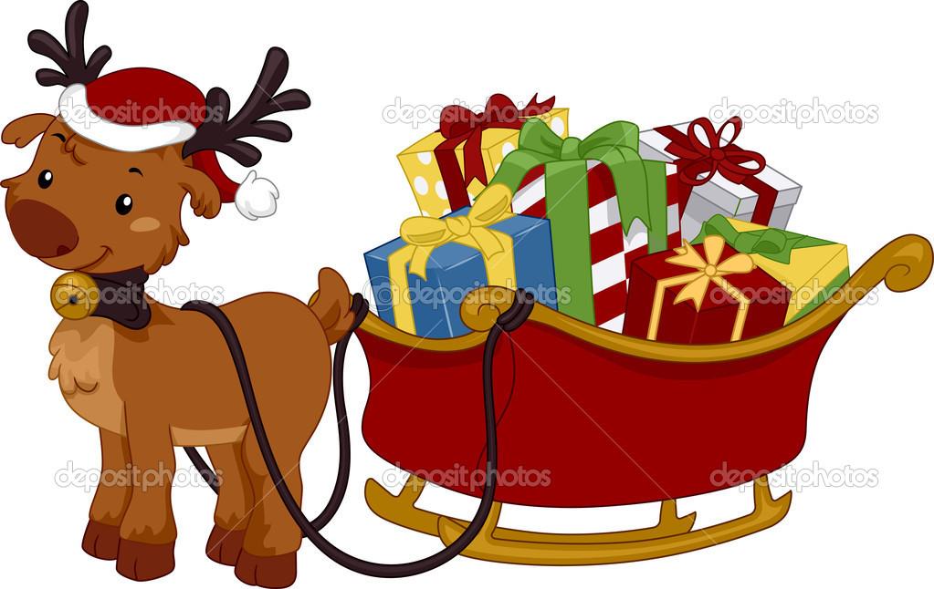 Reindeer Sleigh — Stock Photo © lenmdp #7892686.