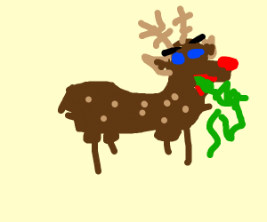 Reindeer throwing up clipart Transparent pictures on F.