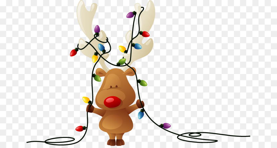 Christmas Lights Cartoon png download.