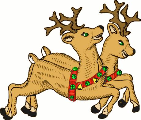 reindeer christmas clipart #4