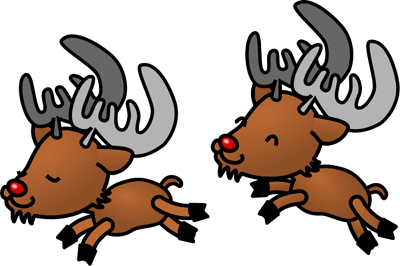 Free Christmas Reindeers Clipart Graphics and Images.