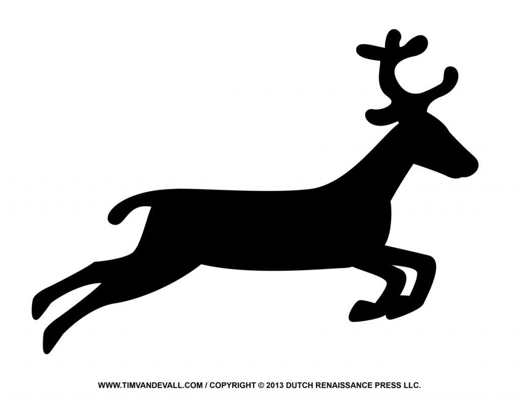 Reindeer Outline With Reindeer Outline Clipart ~ Free Printable.