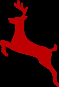 Red Reindeer Clip Art at Clker.com.