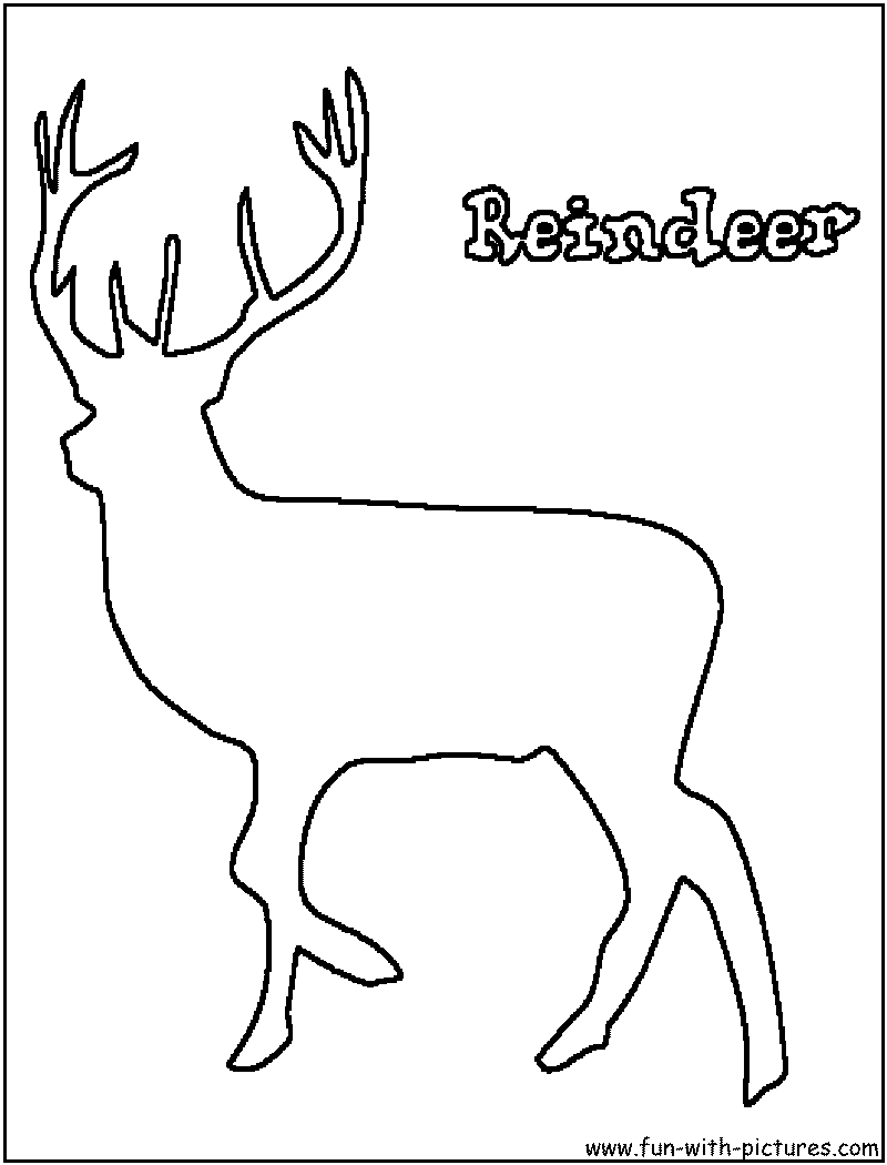 Reindeer Outline With Reindeers Clipart Outline ~ Free Printable.