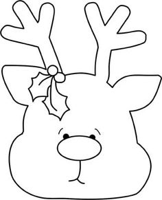 Rudolph Reindeer Face Craft for Coloring.