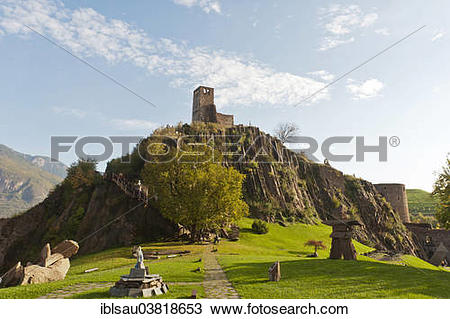 "Stock Photo of ""Messner Mountain Museum Firmian from Reinhold."