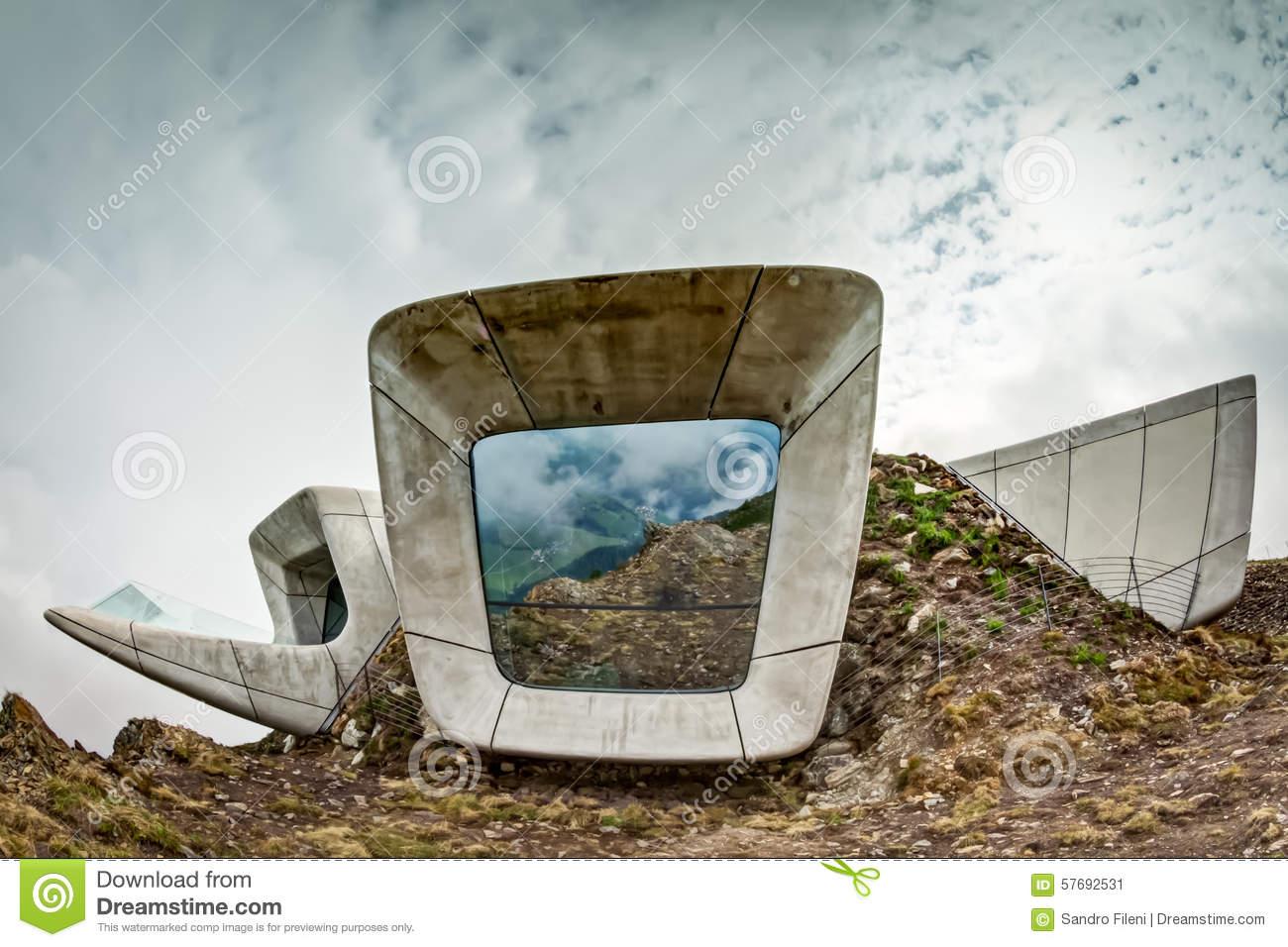 Messner Mountain Museum Corones On Kronplatz Editorial Photo.