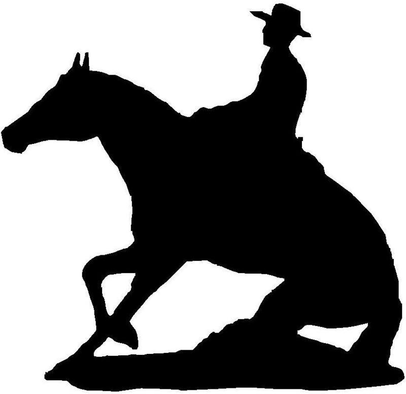 Reining Horse Silhouette.