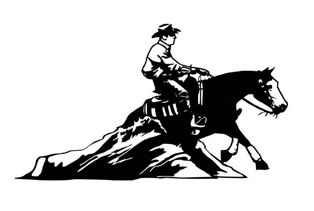 Reining Horse Logo.