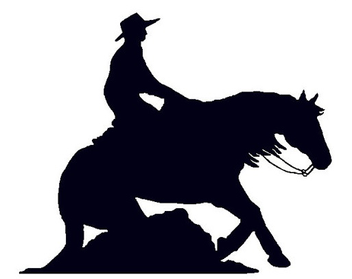 Reining Horse Silhouette Free Download Clip Art.
