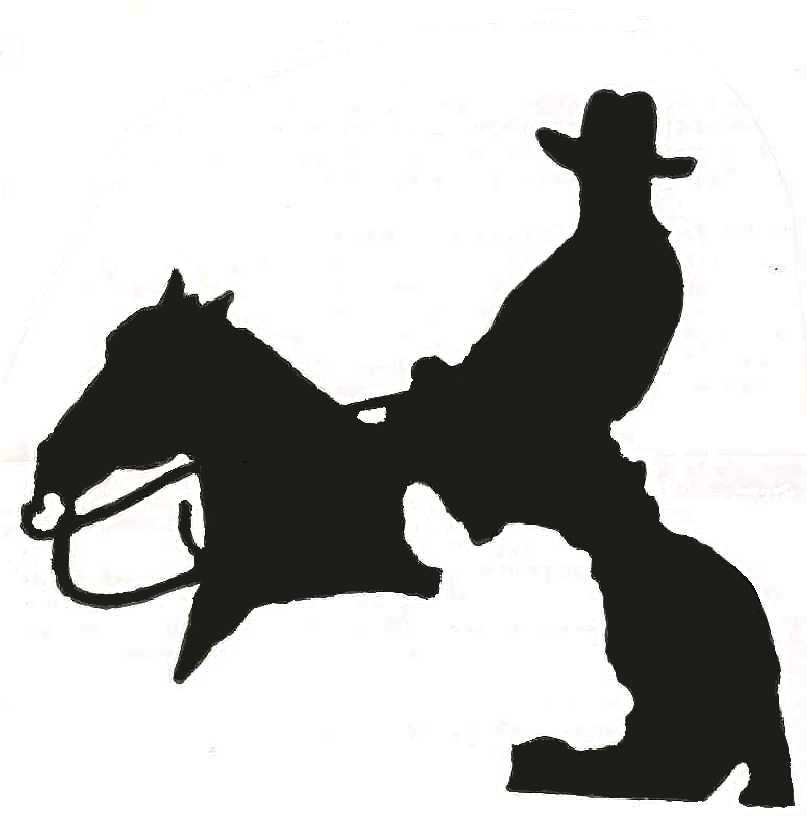 Cutting Horse Clip Art N4 free image.