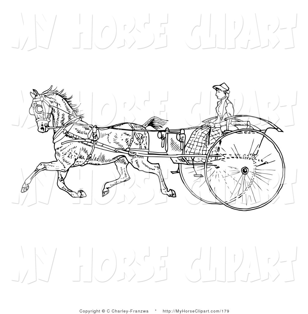 Clip Art of a Young Lady Holding the Reins to a Horse on an Old.