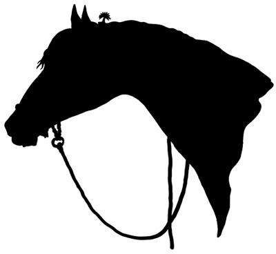 Horse Head Silhouette Clip Art.