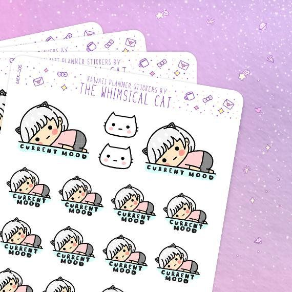 Current Mood Stickers, Relatable Stickers, Relatable Life.