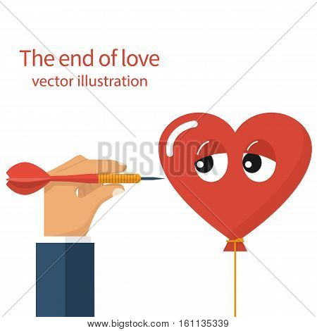 The end of love concept. Unhappy love divorce crisis relationship.